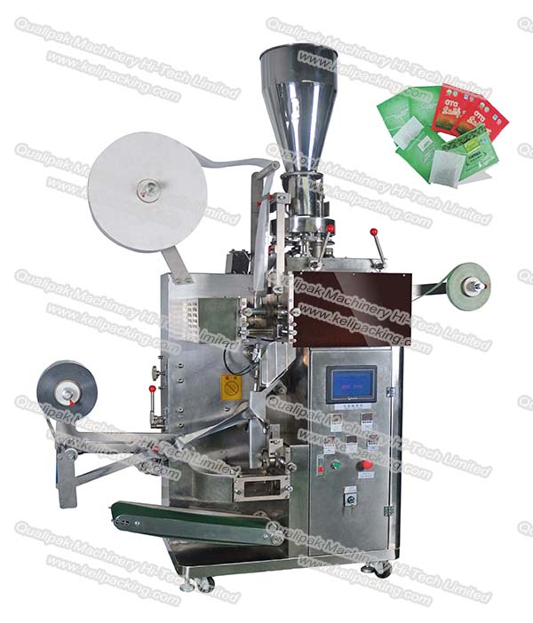 QP-180 Inner bag outer bag tea packing machine with thread and tag