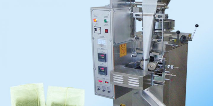 Tea bag packing machine with thread
