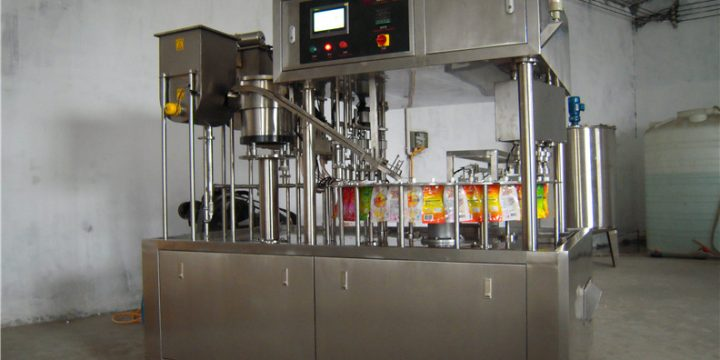 QP-4000 Automatic stand up bag liquid filling capping machine