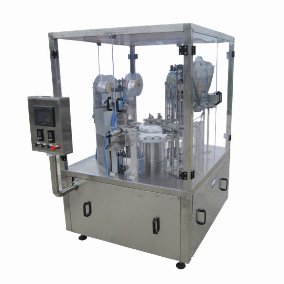 mini spout bag filling capping machine low price