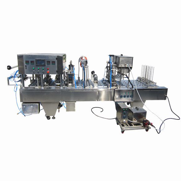 Automatic plastic bag filling sealing machine with date coding